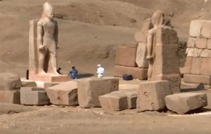 Egypt unveils colossi of ancient Egyptian King Ramses II