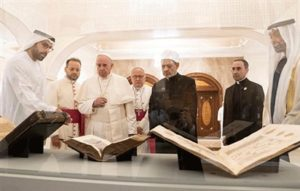 Pope Francis, Grand Imam view Louvre Abu Dhabi collection during historic visit