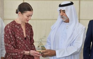 Nahyan bin Mubarak presents Abu Dhabi Festival Award to Opera national de Paris Director of Dance