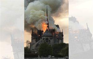 حريق هائل يدمر كاتدرائية نوتردام في باريس