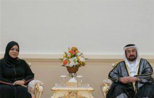 حاكم الشارقة يستقبل أعضاء مجلس إدارة اتحاد كتاب وأدباء الإمارات