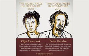 أولغا توكاركوك وبيتر هاندكه يفوزان بجائزة نوبل للآداب