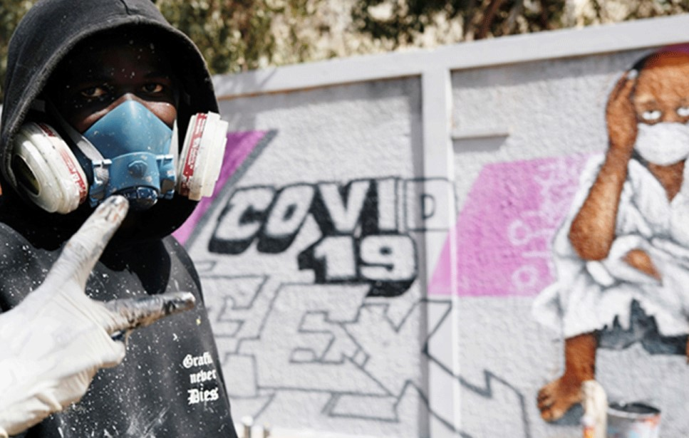 Senegal's graffiti artists join the fight against coronavirus