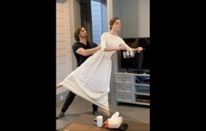 No stage, no problem: Russian ballet dancers perform in kitchens for online fans