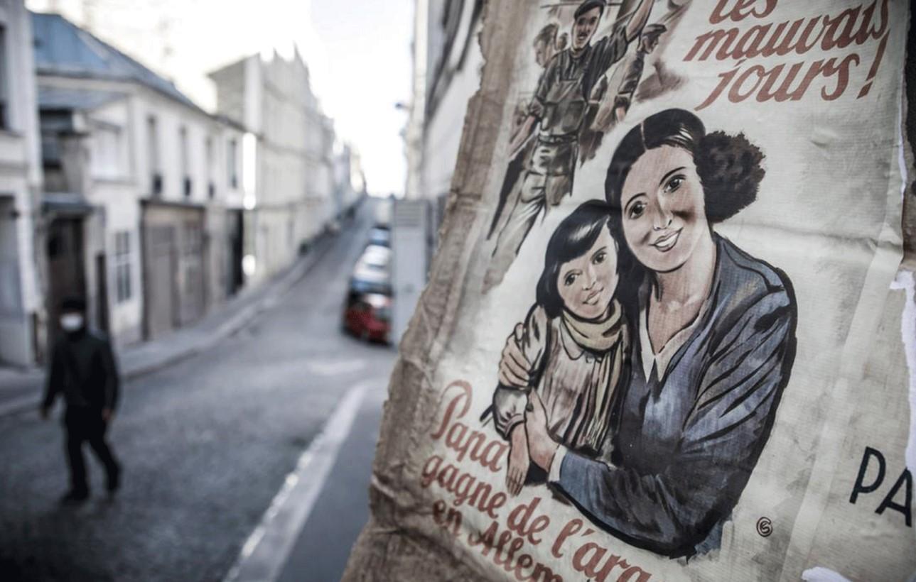 Coronavirus lockdown leaves Paris street in 1940s time warp