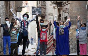 Mime artist breaks silence to give coronavirus health tips in Cairo