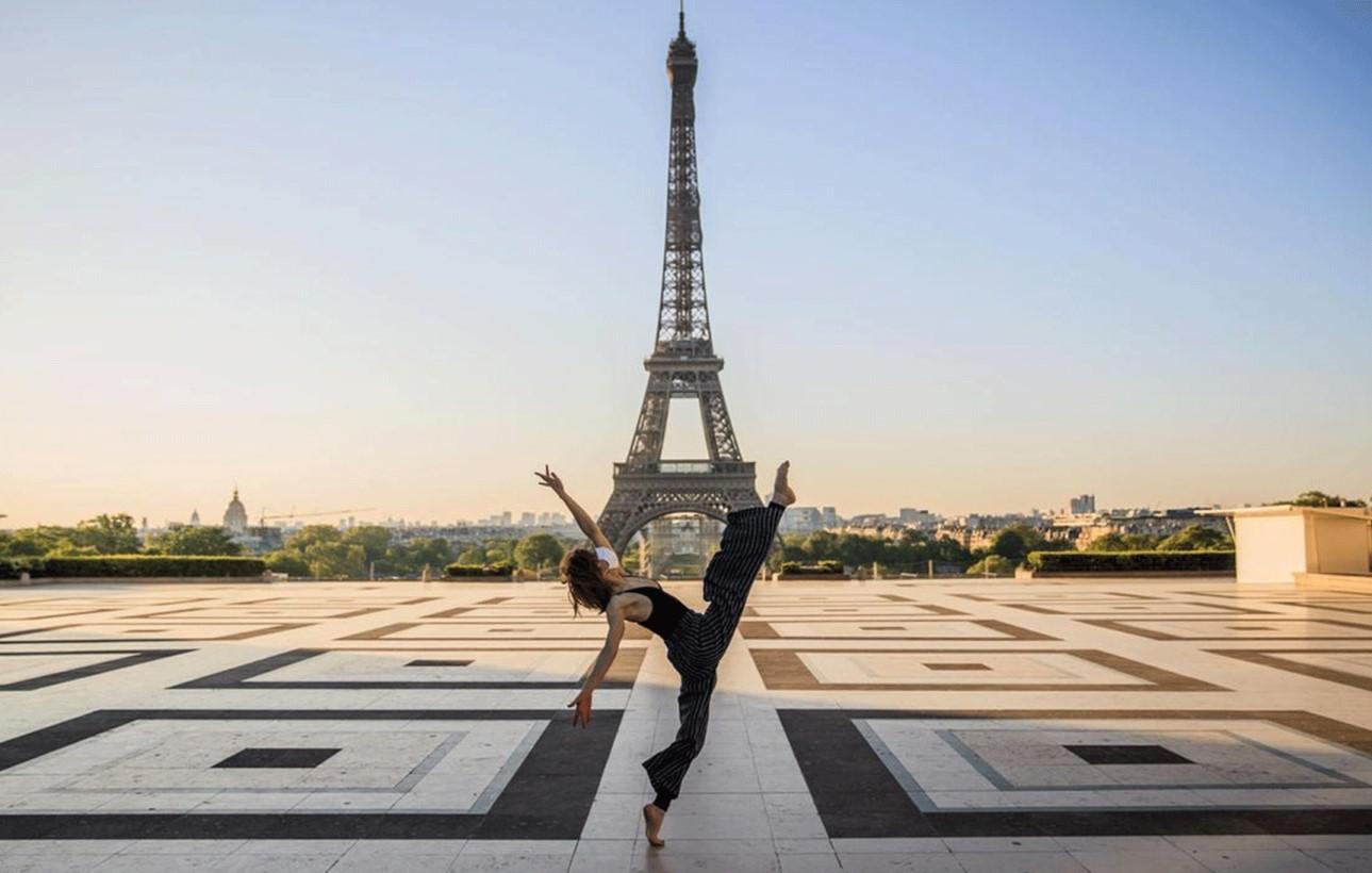 Syrian ballet dancer performs in eerily empty Paris