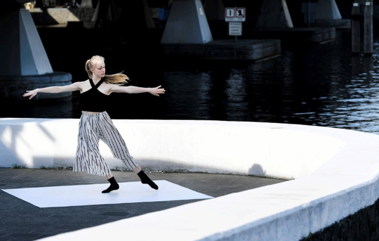 Dancing in the streets: Ballet stars perform in empty Amsterdam
