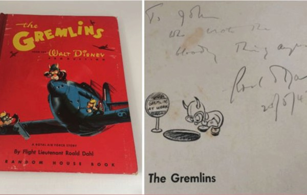 You are currently viewing First edition of Roald Dahl book Gremlins up for auction