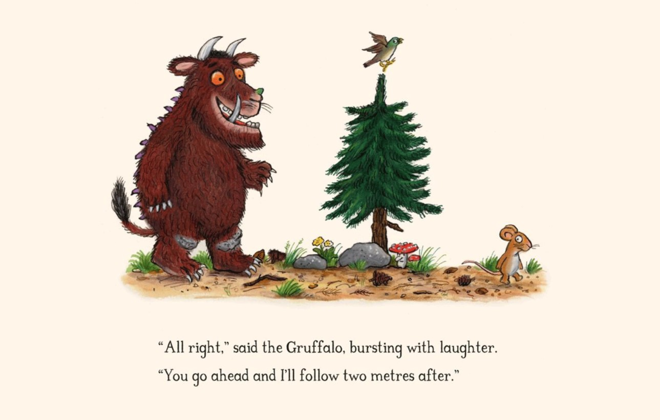 You are currently viewing The Gruffalo author Julia Donaldson shows her characters social distancing