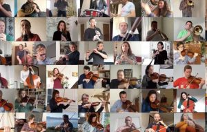 French orchestra plays on through virus confinement
