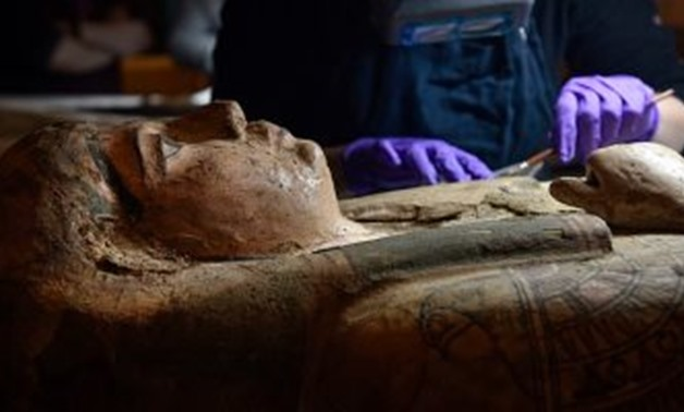 You are currently viewing Scottish conservators discover Paintings inside the coffin of a 3,000-year-old Egyptian mummy