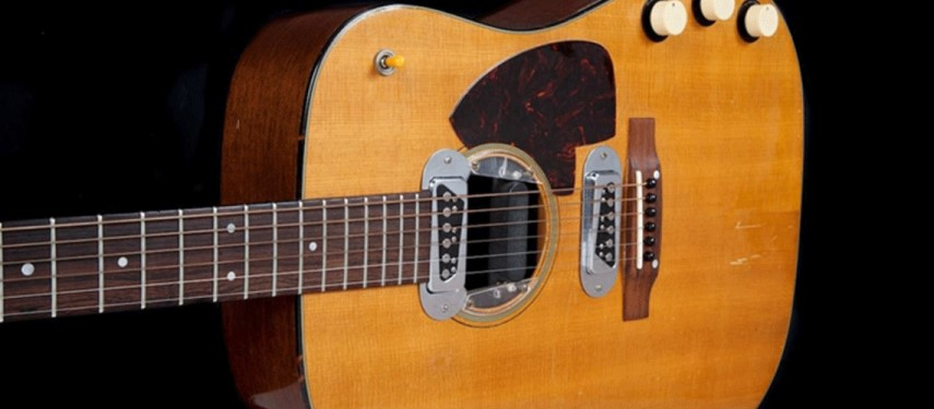 Cobain 'Unplugged' guitar up for auction starting at $1 million