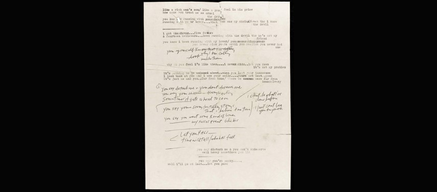 Read more about the article Rare Bob Dylan lyrics could fetch $19,000 in sale