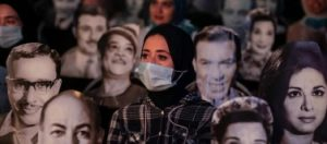 Cairo theatre employs famous faces to aid with social distancing – in pictures