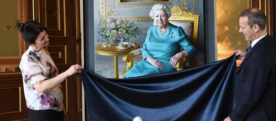 Queen Elizabeth sees new portrait via video call: 'but there's no tea in the cup'