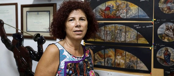 Stained glass artist Maya Husseini counts the cost of the Beirut blast with her art work