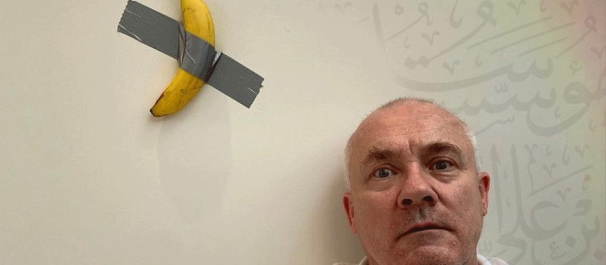 Damien Hirst wanted to buy banana taped to wall, but artist Maurizio Cattelan said no