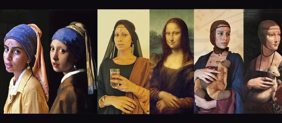 Moroccan Mona Lisa: artist recreates paintings as self-portraits with an Amazigh twist