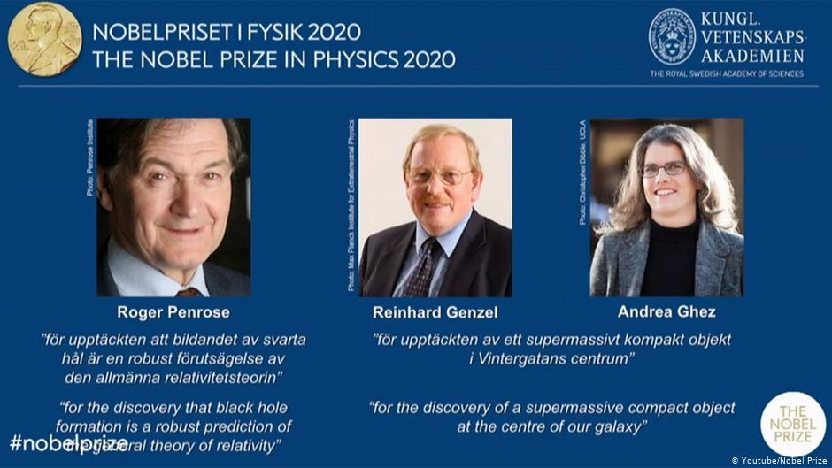 """You are currently viewing ثلاثة علماء في مجال """"الثقب الأسود"""" يفوزون بجائزة نوبل للفيزياء"""