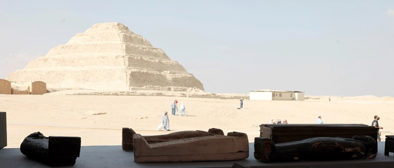 You are currently viewing Egypt showcases scores of 2,500-year-old coffins