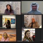 حوارات غنية في ندوة حسن شريف عبر  منصة مؤسسة سلطان العويس الافتراضية