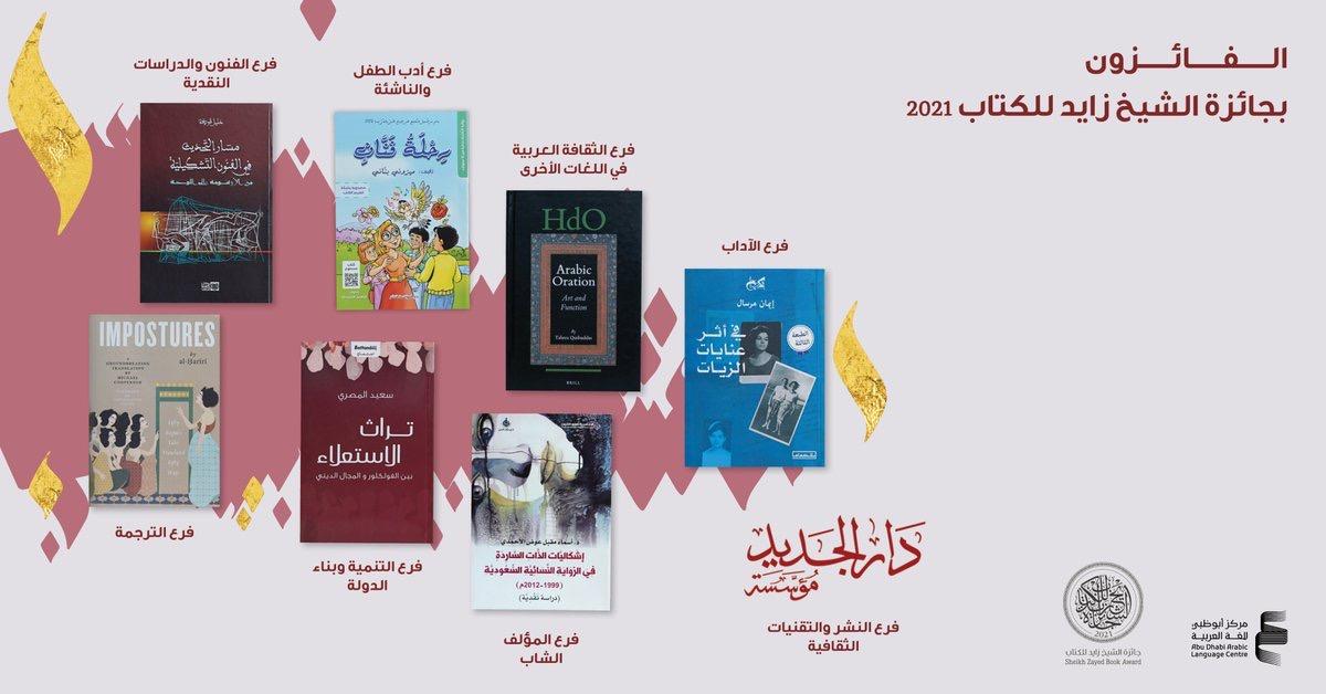 You are currently viewing جائزة الشيخ زايد للكتاب تعلن أسماء الفائزين في الدورة الخامسة عشرة
